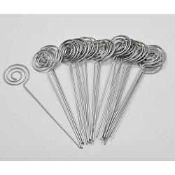 10 Asticelle portafoto a spirale in metallo da...
