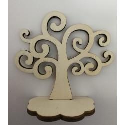 Albero della vita in legno con base