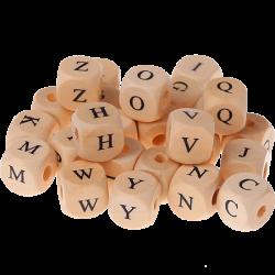 300 Dadi in legno con lettere stampate pacco misto